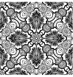 Black and white seamless pattern with mosaic vector