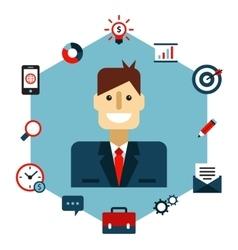 Business Management Flat vector