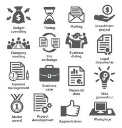 Business project planning icons vector