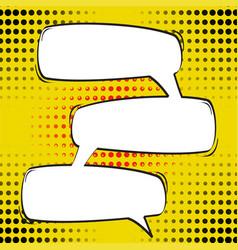 cartoon comic speech bubbles empty dialog clouds vector image