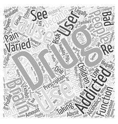 Causes of drug addiction word cloud concept vector