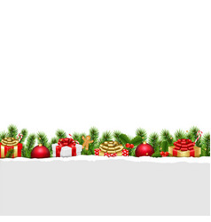 Christmas border white background vector