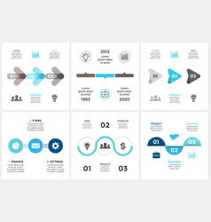 circle arrows timeline infographic cycle vector image