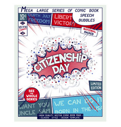 citizenship day usa national holiday vector image