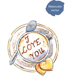 Coffee I love you vector image