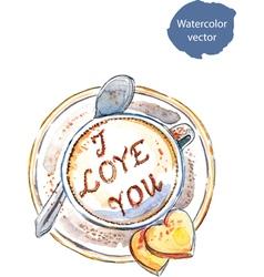 Coffee I love you vector