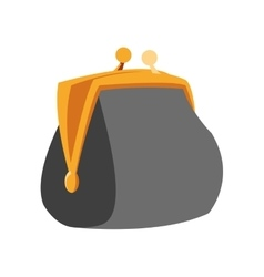 Coin purse icon vector