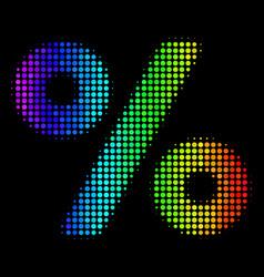 Colored pixel percent icon vector