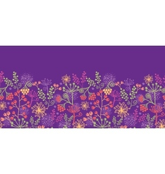 Colorful garden plants horizontal seamless pattern vector image vector image