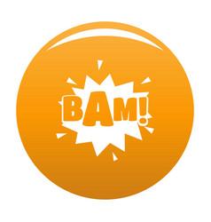 Comic boom bam icon orange vector