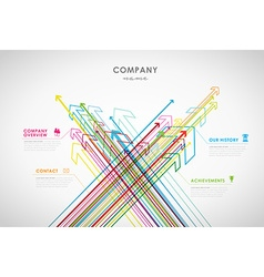 Company infographic overview design template with vector image