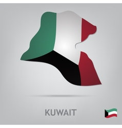 country kuwait vector image