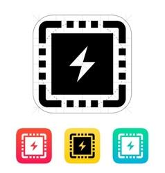 CPU Power icon vector image