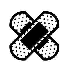 Cure band first aid icon vector