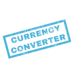 Currency Converter Rubber Stamp vector