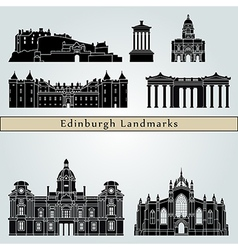 edinburgh landmarks and monuments vector image