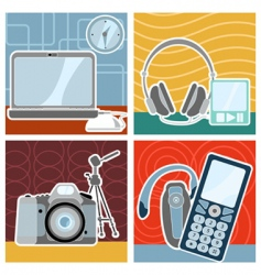 electronic design vector image