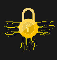 Electronic lock icon vector