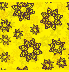 endless islamic ethnic floral retro doodle vector image