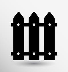 fence wood icon button logo symbol vector image