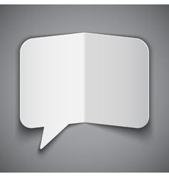 Folded Paper Speech Bubble vector
