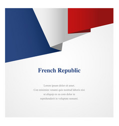 france insignia template vector image