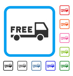 free delivery framed icon vector image