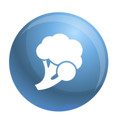 fresh broccoli icon simple style vector image