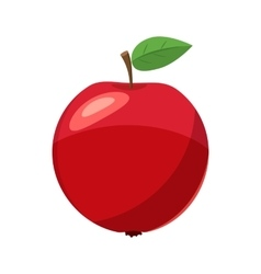 Fresh red apple icon cartoon style vector image