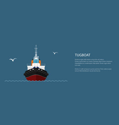 Front view of push boat banner vector
