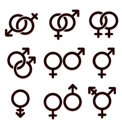 gender and sexual orientation icon set vector image