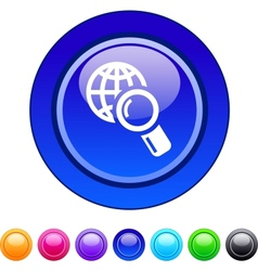 Global search circle button vector image