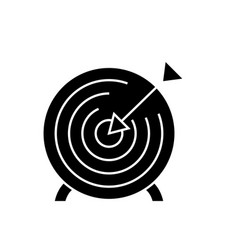 goal target black concept icon goal target vector image