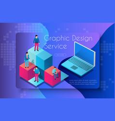 graphic design service vector image