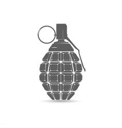 Grey hand grenade vector