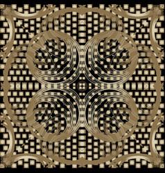 Half tone floral 3d seamless pattern ornamental vector