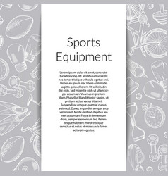 Hand drawn sports equipment background vector
