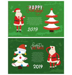 happy holidays greeting card 2019 new year vector image