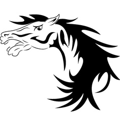 head of a horse vector image