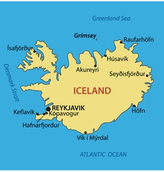 Iceland - map vector