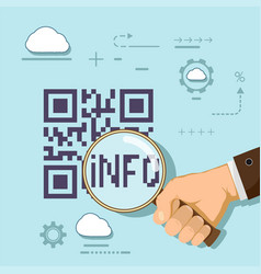information in qr code vector image