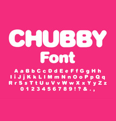 interesting chubby child font vector image