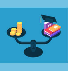 investment in education money for college vector image