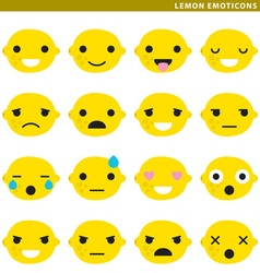lemon emoticons vector image vector image
