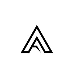Letter a graphic design template isolated vector