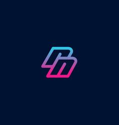 lowercase rn logo beautiful colored logo modern vector image