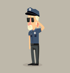 man police office vector image