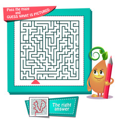 Maze what is pictured vector
