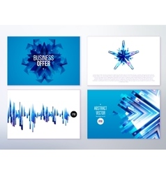 Modern abstract banners for business vector