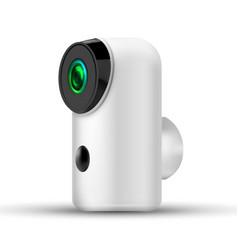 Modern compact basecurity wifi ip camera vector